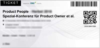 Product People - Spezial-Konferenz - Ticket-Beispiel
